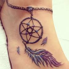 Meaning Of Dream Catcher Tattoos On this post you can see Dream Catcher Foot Tattoo Design 55