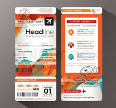 free ticket design template modern design boarding pass ticket event invitation card vector