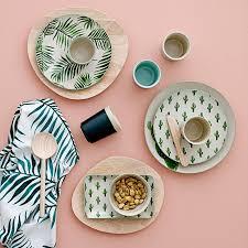 Vaisselle Melamine Design Assiette Jade Cactus Bloomingville Vaisselle Scandinave