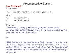 writing essays 6 argumentative essays
