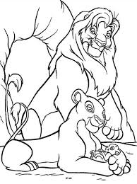 Small Picture Mufasa Nala and Simba in Front of The Cave The Lion King Coloring