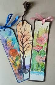 Design Handmade Bookmarks Bookmarkersitap Ayraçları Watercolor Bookmarks Bookmark