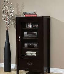 Axium Contemporary Espresso Finish Wood Drawer Glass Door Audio Storage  Cabinet