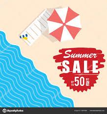 ビーチ アイテム イラスト夏のセール ストックベクター
