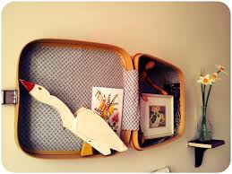 Old Suitcases Its A Vintage Suitcase Er Stuck On The Wall Yknow Lulastic