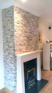 fireplace stone tile around tiles natural stacked slate fir