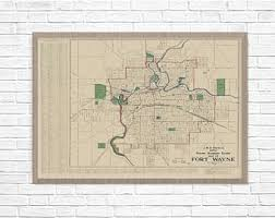 fort wayne indiana abstract street map print Ft Wayne Indiana Map indiana map, for wayne vintage map, old map fort wayne indiana 1919, indiana fort wayne indiana map