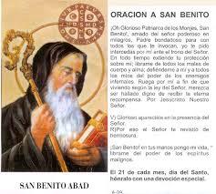 Oracion a San Benito contra males, envidias y trabajos oscuros vía ...