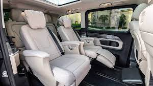 Family friendly features include ambient lighting for sleeping children. 2020 Mercedes Benz V Class Interior Youtube