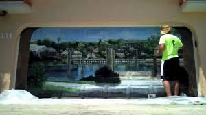 garage door muralsGarage Door Mural Time Lapse  YouTube
