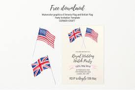 Royal Invitation Template Royal Wedding Invitation Template America Flag Union Jack Flag Free Download