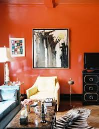 Zebra Print Living Room Decor Decorating With Colors Living Room With Orange Walls And Black Tv