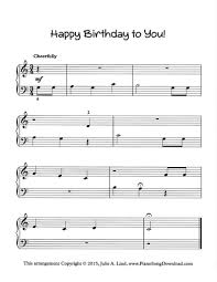 Print and download happy birthday to you! Happy Birthday To You Free Easy Piano Sheet Music