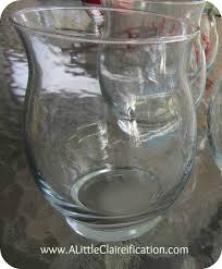 a mini hurricane glass is the perfect starting point for a diy mercury glass project