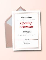 Opening Invitation Card Sample Free Opening Ceremony Invitation Card Template Download 518