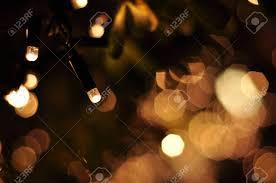 Orange Garden Lights Garden Light Blur Bokeh Defocused Background
