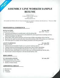 Resume For Factory Worker Factory Worker Resume By Pin Resume For Cool Resume For Factory Worker