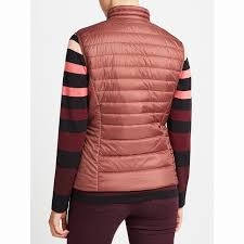 gerry weber quilted gilet mauve polyester quilted jacket