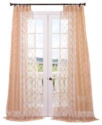 gia gold embroidered sheer curtain contemporary curtains