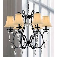 fabulous black iron dining room chandelier 6 light curved iron and crystal chandelier traditional black