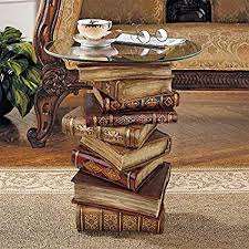 Amazon.com: Design Toscano Power of Books Vintage Decor Stacked ...