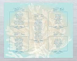 Seating Chart For Wedding Reception Amazon Com Beach Wedding Reception Seating Chart Print Perfect
