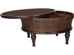 wicker coffee table with storage round wicker coffee table awesome north s wicker 5 round storage coffee cedar island all weather wicker patio storage