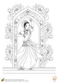 Coloriage Danse Hindi