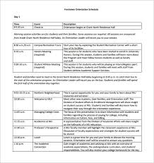 new employee orientation schedule orientation templates under fontanacountryinn com