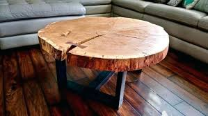 round live edge side table coffee table log slab coffee table natural slab coffee table live
