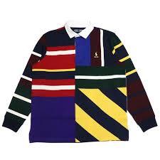 palm nut palace x polo ralph lauren palace polo ralph lauren rugby shirt long sleeve rugby shirt longus reeve multi multicolored 2018aw regular