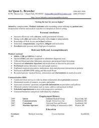 Medical Assistant Objective Statement Medical Assistant Resume Skills Free Medical Assistant