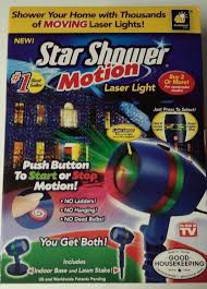 Star Shower Motion Outdoor Indoor Laser Christmas Lights Projector AS SEEN ON TV #Unbranded