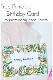 Free Birthday Card Free Printable Birthday Cards Free