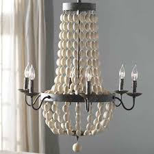 dd with wooden beads in soft neutral hues the addington for chandeliers with wooden beads