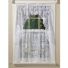 Lace Window Treatments Beautiful Country Style Curtains In Rosy Lace Country Style