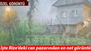 Son dakika... Rize'deki sel felaketinden yeni görüntü! Korku dolu anlar:  Evin yarısını götürdü