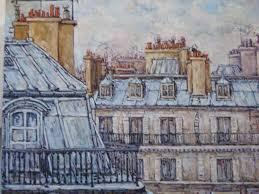"""Résultat de recherche d'images pour """"paris toits aquarelle"""""""