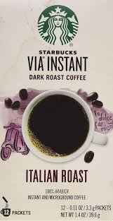 With the right grind and pure water, you can brew a fantastic cup in a coffee brewer. Amazon Com Starbucks Via Ready Brew Italian Roast Coffee 1 4oz 12 Single Serve Packets Instant Coffee Grocery Gourmet Food