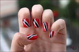 Trinidad Flag Nail Design Nailglaze June 2013