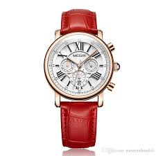 red white color leather watch fashion women watches luxury las quartz watch clock for relogio feminino sport wrisches trendy watches