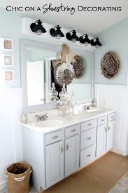 Beachy Bathroom Light Fixtures Chic On A Shoestring Decorating How To Build A Bathroom