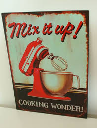 Vintage Metal Kitchen Signs