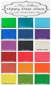 Glaze Color Chart Hippy Daze Glaze Color Chart Miss Lillians No Wax Chock