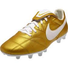 the nike premier ii fg metallic gold white