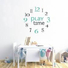 clock numbers wall decals playroom wall