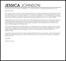 t cover letter sample medical receptionist sample cover letter cover letter templates