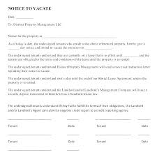 Day Notice Template To Landlord Roommate Vacate Free 30 Day