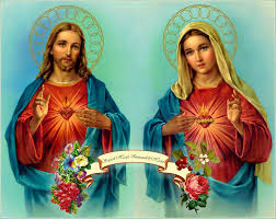 painting sacred heart immaculate heart by poster prints