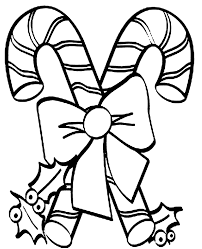 Christmas Candy Cane Coloring Pages With